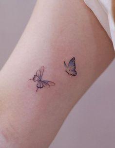 Little Tattoos, Mini Tattoos, Body Art Tattoos, Tatoos, Butterfly Tattoos Images, Simple Butterfly Tattoo, Dainty Tattoos, Small Tattoos, Alas Tattoo