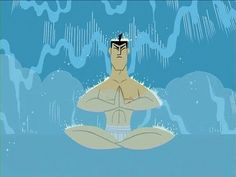 """Samurai Jack. """"A great warrior must be in tune with all of his senses. Only then can you extend your awareness so that you may fight on any level."""" Says the great Sifu from this episode, """"Jack and the Three Blind Archers."""""""