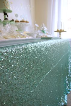 Mint to Be Bridal Shower Dessert Table « Itsy Belle Itsy Belle Mint to Be Bridal Shower Dessert Tabl Bridal Shower Desserts, Bridal Shower Decorations, Birthday Decorations, Mint Table, Teal Bridal Showers, Wedding Mint Green, Mint Green Weddings, Azul Tiffany, Quinceanera