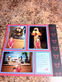 A Scrapbook Nook: Disney Cruise Layouts