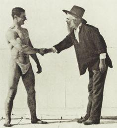 Edward Muybridge greets a sitter.
