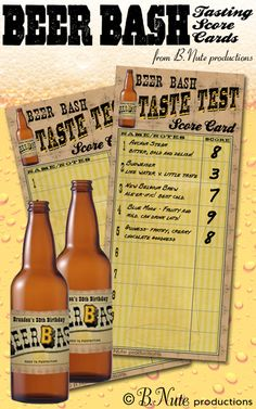 bnute productions: Free Printable Beer Tasting Score Card and More...