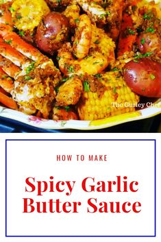 "This recipe allows you take the original Garlic Butter Sauce for Seafood up another level by making it spicy! With all of the original favorites but with some spicy additions to make your mouth say, ""Alright Now!"" Take a look at this video. Spicy G Cajun Seafood Boil, Seafood Boil Party, Spicy Seafood Recipes, Seafood Dinner, Crab Boil Recipes, Spicy Shrimp Boil Recipe, Seafood Butter Sauce Recipe, Garlic Butter Sauce For Crab Legs Recipe, Daisies"