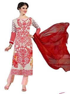 Pakistani Salwar Kameez, Pakistani Suits, Ethnic Fashion, Every Woman, Lawn, Classy, Cotton, Red, Shopping