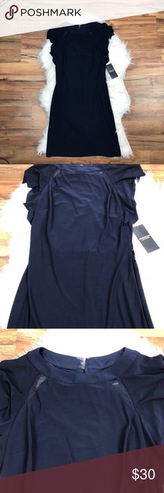 American Living Navy Dress Very elegant navy dress by American Living. Has  four see through cutouts around the neckline. Size 2. #1223 American Living Dresses
