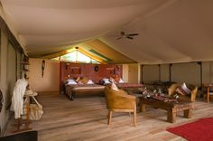 Luxury tents with private viewing decks overlooking the Masai Mara and great wildebeest migration. At Mara Engai Wilderness Lodge. #LuxuryTent #MasaiMara #MaraEngai #MaraEngaiWildernessLodge #migration