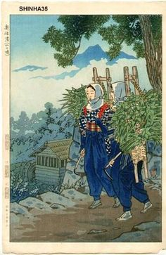 Kasamatsu Shiro: Daughters of the Mountain at Okushinano — Okushinano Yama no Musume - Japanese Art Open Database