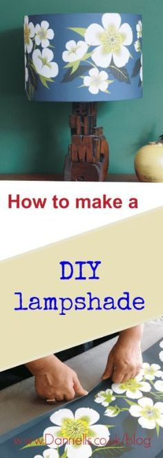 How to make a DIY lampshade with step by step instructions from an expert lampshade maker. Simply add your favourite fabric or paper to create bespoke home decor accesories! DIY drum lampshades take under an hour to make and are so satisfying!       #Dann