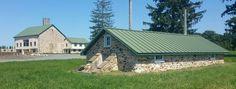Spring house & barn