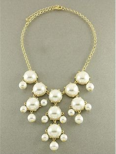 Pearl White Necklace J Crew Inspired  Pearl by RedMarbleJewel, $14.00