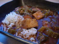 vegetarian gumbo with smoked tofu!  @Luke Sprague we've gotta try this!