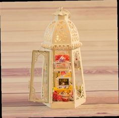 44.85$  Buy now - http://ali1bx.worldwells.pw/go.php?t=32609911824 - Love iron tower DIY dollhouse, handmade toys house for dolls Sound Control LED lights dollhouse miniature free shipping