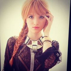 side fishtail braid with front bangs.. might have to try sometime!