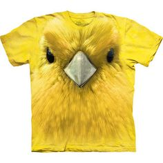 Yellow Warbler Face Tee XXL, $18, now featured on Fab.