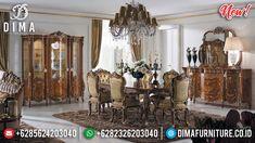 Kursi Set Meja Makan Mewah 6 Kursi Luxury Great Solid Wood Jepara BT-0817