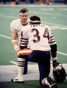 Jim McMahon and Walter Payton in Super Bowl XX