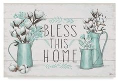 Trademark Fine Art X Janelle Penner 'Blessed I' Canvas Art Buffalo Check Tablecloth, Watercolor Beginner, Jar Art, Doodle Patterns, Art Pages, Art Boards, Illustrations Posters, Cute Art, Art Reproductions
