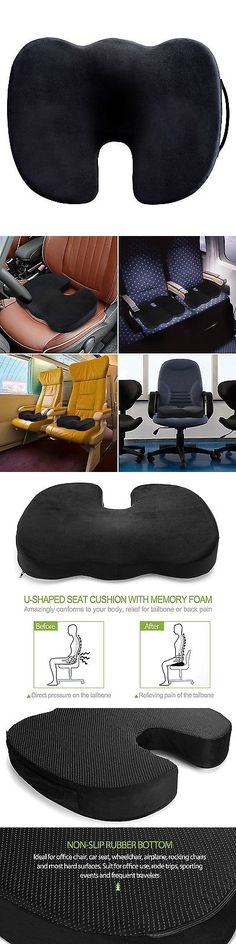 Basics Memory Foam Seat Cushion Striped U-Shape