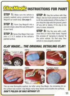 Clay Magic is an easy to use product that really deep cleans and smooths the surface of your vehicle.  Order now at Kitsupply!