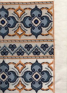 This Pin was discovered by Μον Cross Stitch Charts, Counted Cross Stitch Patterns, Cross Stitch Embroidery, Embroidery Patterns, Bargello, Cross Stitch Flowers, Crochet Crafts, Cross Stitching, Blackwork