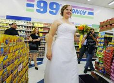 Doesn't every girl dream of one day having their wedding at Walmart.