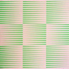 Richard Allen - Green and Pink, acrylic on canvas, ca. 1970, 72 x 72 inches