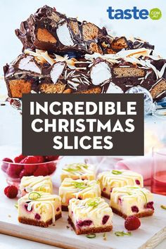 These easy Christmas slices are the perfect sweet additions to your festive menu. Or, if you want to really share the love, why not arrange them in a tin and give them as a gift?
