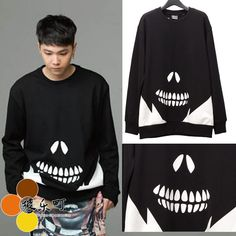 Find More   Information about 2014 ftisland skull hong lovers design o neck sweatshirt  btsSweater   High Street hoodies  Black,High Quality  ,China   Suppliers, Cheap   from shaoning zhao's store on Aliexpress.com