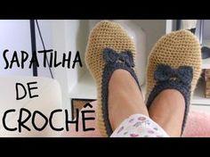 SAPATINHO EM CROCHÊ ADULTO 33/34 # Elisa Crochê - YouTube