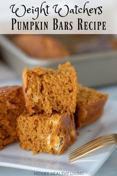 Do you like desserts? This Weight Watchers Pumpkin Bars Recipe is only 2 Freestyle Smart Points per serving. Don't break the WW SmartPoints bank and still enjoy a sweet dessert.