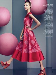 Karlie Kloss by Craig McDean for Vogue US (November 2012). Marc Jacobs dress.