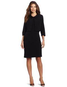 Danny & Nicole Women's Crepe Sleeveless Sheath Dress: Clothing