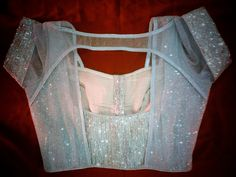 Silver Shimmer blouse with boat neck..