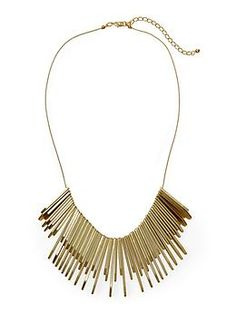 Matte Gold Bar Necklace by Hive & Honey