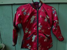 Quilted Vintage Chinese Satin/Silk Jacket by MyVintageClothingCo