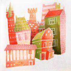 Illustration by Hilda © Groenesteyn / studio Hille Work On Yourself, Watermelon, Pastel, Shit Happens, Studio, Holiday Decor, Cake, Studios, Crayon Art