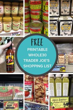 The most comprehensive Trader Joes Whole30 Shopping List ever! A printable Whole30 shopping list and Whole30 recipes to help you rock Week 1 and the rest of your round. #sustainablecooks #whole30grocerylist #traderjoes #traderjoeswhole30 via @sustainablecooks