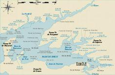 Les marins-pêcheurs du temps d'avant. Mémoires du Port de Commerce de Brest.                                                                   Carte de la Rade