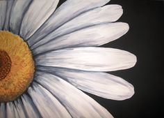 Acrylic painting on canvas Daisey CloseUp by AgapeGreetings, $150.00