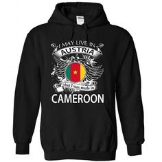 I May Live In Austria But I Was Made In Cameroon (NEW V - #handmade gift #student gift. CHECK PRICE => https://www.sunfrog.com/States/I-May-Live-In-Austria-But-I-Was-Made-In-Cameroon-NEW-V10-1686-Black-Hoodie.html?68278