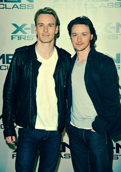 Michael Fassbender and James McAvoy