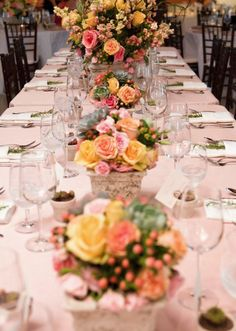 Lovely fall colored floral wedding reception centerpieces; Featured Photographer: Addison Studios
