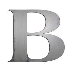 Letter2Word Hand Painted Letter B 3D Wall Sculpture -Nickel, Silver ($25) ❤ liked on Polyvore featuring home, home decor, silver, distressed home decor, silver home decor and silver home accessories