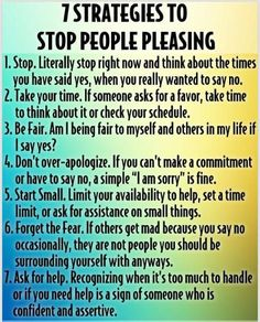 Are you too much of a people pleaser? Here are some helpful ideas - what would you add? visit http://www.drmelindadouglass.com/resources--links.html for articles on relationships communication resources