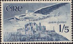 Postage Stamps of Eire Ireland 1948 Air Mail Stamps SG 143b Fine Used Scott C7 Other British Commonwealth Empire and Colonial stamps Here