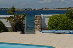 Vente maison pieds dans leau Lorient : Maison avec piscine bord de mer Morbihan - Pierres et Mer