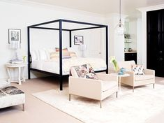 10 Tips for Creating a Cozy Bedroom via Brit + Co. Creating A Cozy Bedroom: Ideas & Ways to Add Good Vibes to Your Bedroom Decor via…When it comes to making your bedroom a cozy oasis,… Cozy Bedroom, Bedroom Decor, Rachel Zoe House, Beautiful Bedrooms, Bedroom Interior, Bedroom Inspirations, Home Bedroom, Home Decor, Room