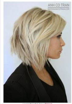 Chunky medium length bob