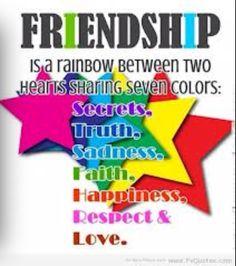 Friendship is a rainbow