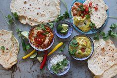 Chicken Korma & Tikka Masala Serve with Naan bread, Basmati rice and lot of fresh coriander
